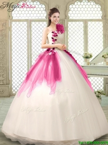 Classical Multi Color Quinceanera Gowns with Appliques and Ruffles