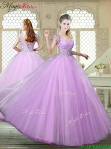 Perfect Ball Gown Scoop Quinceanera Gowns with Appliques