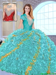 2015 Fsll Modest Beading Sweetheart Quinceanera Gowns in Multi Color