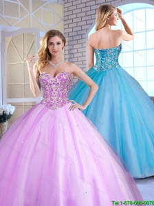 Spring Cheap Ball Gown Beading Quinceanera Gowns with Sweetheart