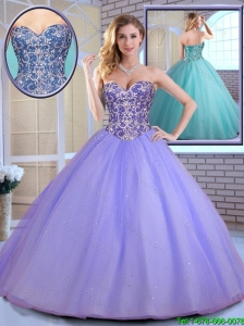 Elegant Ball Gown Sweetheart Quinceanera Gowns with Beading