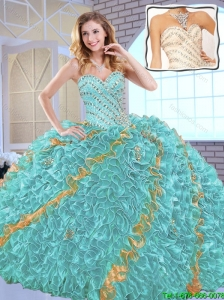Gorgeous Beading Sweet 16 Dresses with Beading and Ruffles