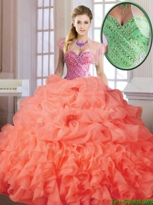 New Arrival Elegant Spring Sweet 16 Dresses with Beading and Ruffles