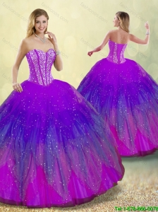 New Style Ball Gown Sweet 16 Dresses in Multi Color for 2016