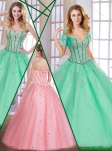 Perfect Exclusive Sweetheart Quinceanera Dresses with Beading