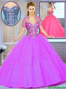 Popular Ball Gown Beading Sweet 16 Dresses with Sweetheart