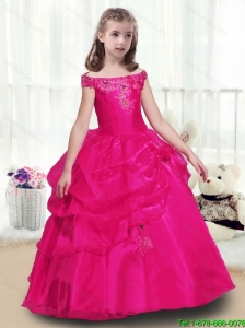 2016 Beautiful Ball Gown  Little Girl Pageant Dresses with Beading and Appliques