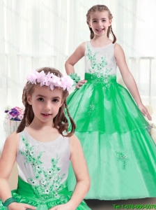 2016 Beautiful Multi Color Little Girl Pageant Dresses  with Appliques