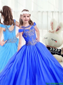 2016 Latest Beading Off the Shoulder Little Girl Pageant Dresses