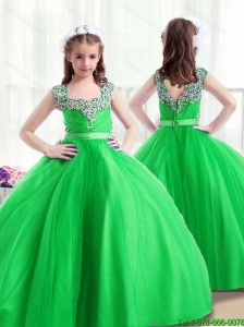 2016 New Style Little Girl Pageant Dresseswith Beading