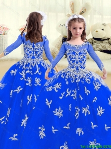 Cheap Beading and AppliquesNew Style Little Girl Pageant Dresses