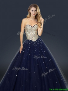2016 Perfect A Line Sweetheart Prom Dresses with Beading and Paillette