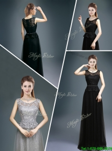 Cheap Empire Scoop Lace Prom Dresses for 2015 Winter