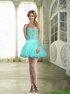 2015 Gorgeous Short Sweetheart Beaded Prom Dresses for Cocktail