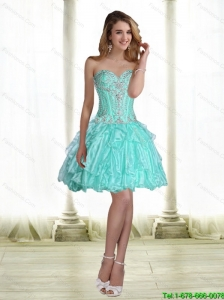 Affordable 2015 Mini Length Prom Dresses with Beading for Cocktail