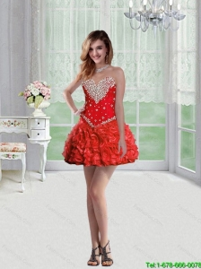 Cute Sweetheart Mini Length Prom Dresses with Beading for Cocktail
