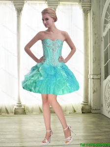 Perfect Ball Gown Sweetheart Beaded Prom Dress with Mini Length