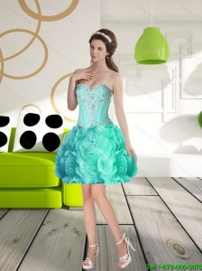 Perfect Sweetheart Prom Dress with Beading and Rolling Flowers