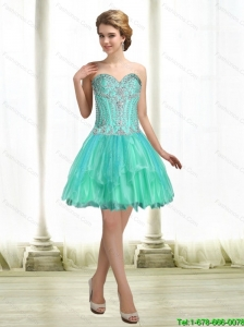 Short Sweetheart Lace Up Simple Prom Dresses with Beading