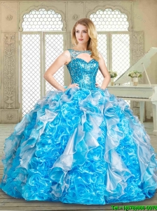 2016 Summer Hot Sale Multi Color Sweet 16 Gowns with Paillette and Ruffles