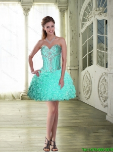 Fashionable Ball Gown Sweetheart Prom Dresses with Mini Length