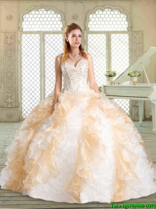 Lovely Sweetheart Quinceanera Gowns with Paillette and Ruffles