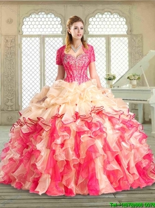 Popular Sweetheart Quinceanera Gowns with Ruffles and Pick Ups