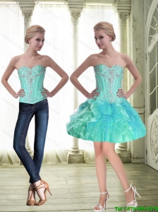 Sturning Sweetheart Lace Up Beaded Detachable Prom Dress with Mini Length