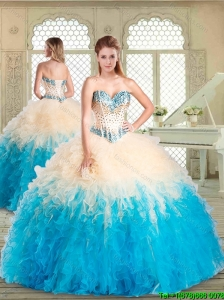 2016 Pretty Sweetheart Sweet 16 Dresses with Beading and Ruffles