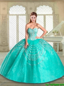 New Style Sweetheart Quinceanera Gowns with Beading and Appliques