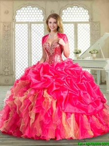 Luxurious Sweetheart Quinceanera Dresses with Beading and Ruffles