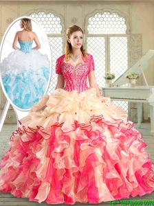 Pretty Floor Length Quinceanera Dresses with Beading and Pick Ups