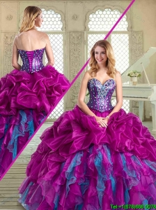 Pretty Sweetheart Quinceanera Dresses with Pick Ups and Ruffles for Winter