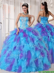 Cute Ball Gown Beading and Appliques Quinceanera Dresses