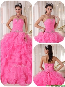Exclusive Ball Gown Strapless Cute  Quinceanera Gowns with Beading