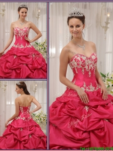 Cute Sweetheart Appliques and Pick Ups Quinceanera Dresses