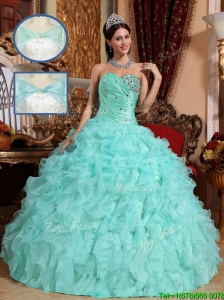 New Arrival Apple Green Quinceanera Dresses with Beading and Ruffles