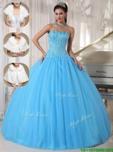 New Arrival Beading Ball Gown Floor Length Quinceanera Dresses