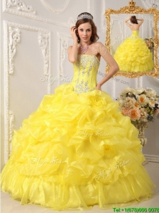 Perfect  Ball Gown Strapless Floor Length Quinceanera Dresses