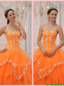 New Ball Gown Appliques and Beading Sweet 15 Dresses for 2016