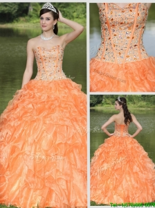 Perfect Beading and Ruffles Layered Quinceanera Gowns