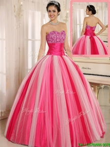 Perfect  Hot Sale Multi Color Strapless Lace Up Quincanera Dresses