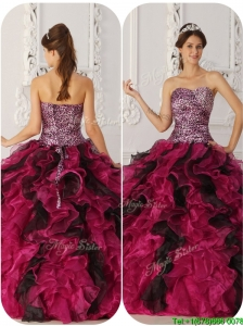 Clearance Ball Gown Floor Length Quinceanera Dresses in Multi Color