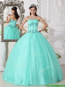 Clearance Green Ball Gown Sweetheart Quinceanera Dresses