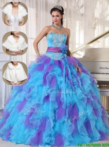 Clearance Strapless Quinceanera Dresses  with Beading and Appliques