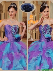 Discount Multi Color Quinceanera Dresses with Beading and Ruffles