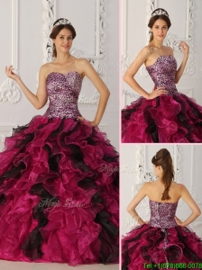 Discount Sweetheart Ruffles Quinceanera Dresses in Multi Color