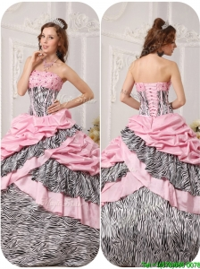 Puffy Ball Gown Strapless Floor Length Beading Quinceanera Dresses