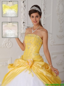 Cheap Strapless Sweet 16 Dresses  with Appliques for 201