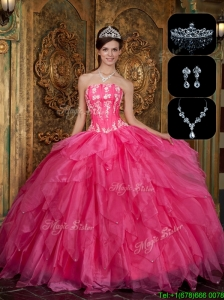 New Arrivals Strapless Sweet 16 Dresses with Appliques and Ruffles